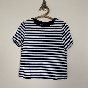NWT Topshop Classic Navy Striped SS Tee 8 #2291